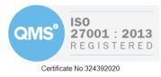 Iso 27001 2013 badge white
