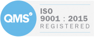 Iso 9001 2015 badge white